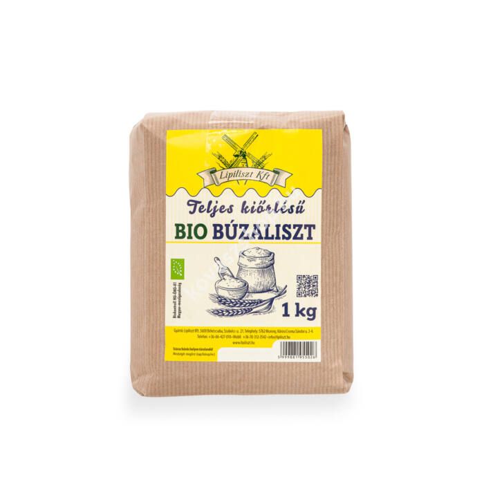 Lipiliszt teljes kiőrlésű bio búzaliszt