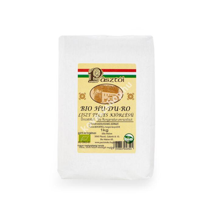 Pásztói bio HU-DU-RO teljes kiőrlésű liszt, 1 kg